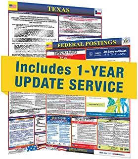2019 Texas State and Federal Labor Law Posters with 1 Yr E Update Service