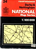 Great Britain Postcode Sector Map - 1: Derby and Nottingham Sheet 24: 100, 000 (Flat sector map)