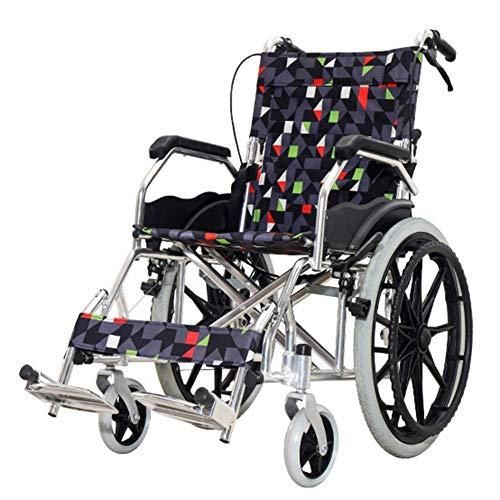 CHOME Älterer Rollstuhl, faltender Leichter Alter Mann-Reise-tragbarer Multifunktionsrollstuhl Behinderter Schubkarre-Senior-Rollstuhl