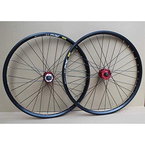 TYXTYX Ejes de liberación rápida Accesorio de Bicicleta Llanta BMX de 24 Pulgadas Juego de Ruedas Freno de Disco Rueda de Bicicleta 32H 8-10 velocidades Cassette Bujes de cojinetes sellados 72T QR
