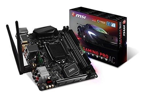 MSI Performance Gaming Intel Z270 DDR4 HDMI USB 3 mini-ITX Motherboard (Z270I GAMING PRO CARBON AC)