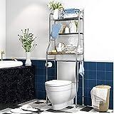 Kawartha Bay Organizador de baño sobre el inodoro, estante de baño de 3...