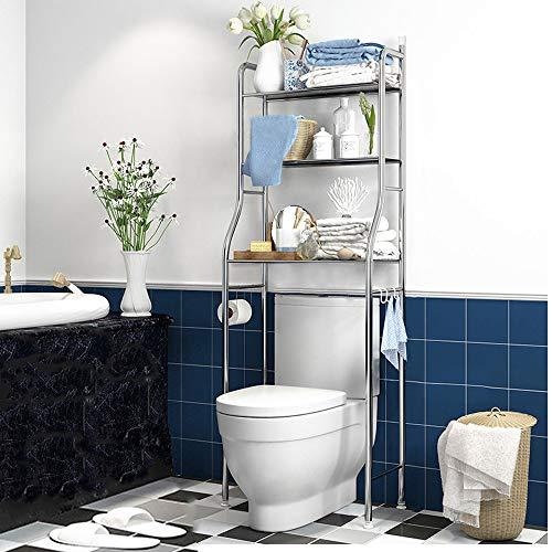 Kawartha Bay Bathroom Organizer Over The Toilet,3-Tier Bathroom Shelf, Over The Toilet Storage Bathroom Spacesaver. (Medium 3-Tier)