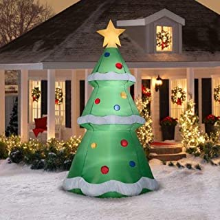 Decorate Your Front Yard for The Holiday Season with Festive Airblown Inflatables Christmas Tree, 10,A Great Addition to Any Christmas Decor