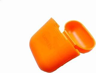 DOWIN سيليكون صدمة واقية حمل حالة تغطية الجلد كم الحقيبة صندوق ل Apple Airpods Air Pods سماعة أذن لاسلكية -برتقالية