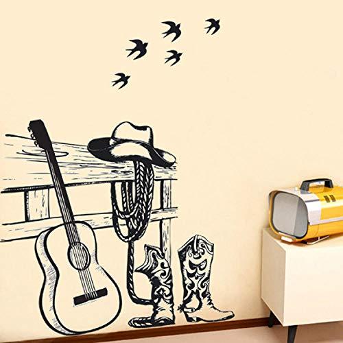 Suner-EUR Siy raamstickers, gitaar, koffie, raamdecoratie, stickers, lijn, soort opleiding klas, muurstickers