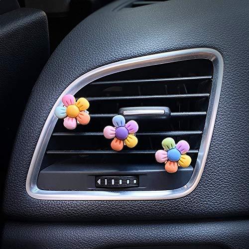 3 PCS Cute Car Air Vent Clips Charm, Automotive Interior Accessories, Cute Dasiy Flowers Car Decor...
