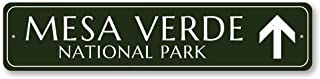 Park Directional Arrow Sign, Personalized National Park Destination Sign, Custom Mesa Verde Sign, Park Decor - Quality Aluminum ENSA1001714-6 x24 Quality Aluminum Sign