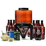 BrewDemon Craft Beer Brewing Kit with Bottles - Conical Fermenter Eliminates Sediment and Makes...