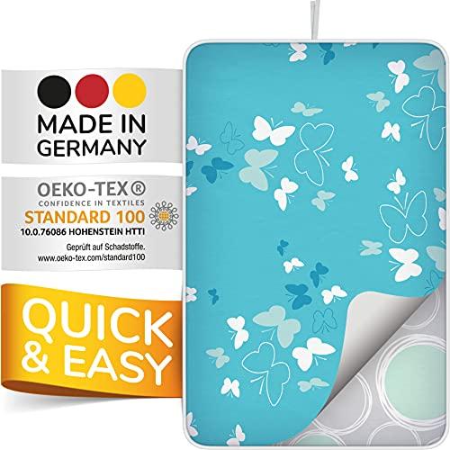 smart&gentle Made in Germany tapis de repassage sur table pour fers à vapeur 100x65cm - nappe de repassage sur table antidérapant, nappe a repasser avec protection contre la chaleur et l'humidité
