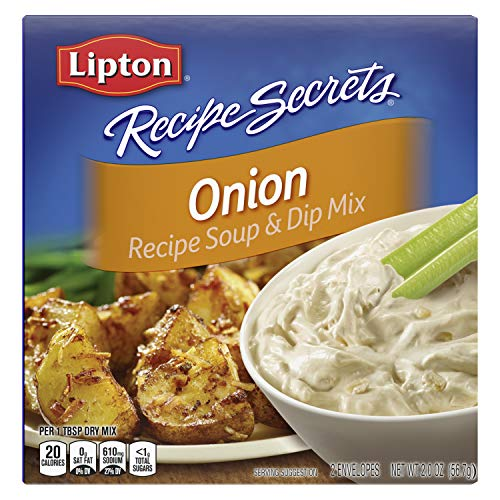 Lipton Recipe Secrets Soup and Dip Mix For a Delicious Meal Onion Great With Your Favorite Recipes, Dip or Soup Mix 2 oz