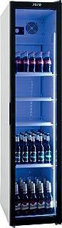 Frigorífico para botellas con ventilador de recirculación, frigorífico para el suelo, vitrina para bebidas, apto para recipientes GN 1/1, 190 cm de altura