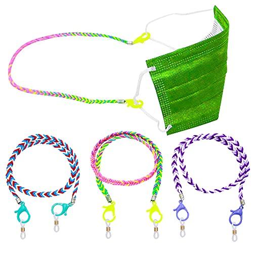 ErenBros PACK 3 Cordones para gafas de niños - Sujeta mascarillas niños con mosquetones - Cuelga mascarillas infantil - Cadena mascarilla niño
