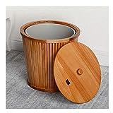 Botes de Basura Pino doble capa Diseño bote de basura con tapa, de residuos cesta de papel, con una amovible interna del barril for bloquear los olores, for el hotel, hogar, etc. Cubos de reciclaje