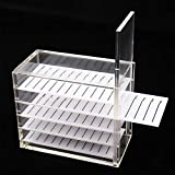 5 Layers Acrylic Plastic Eyelash Storage Box Makeup Display Organizer Grafting Eyelashes Glue Pallet Holder Transparent Eyelash Extension Tools