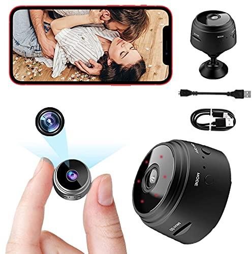 Mini Spy Camera Hidden Small Wireless WiFi - 1080P HD with Audio and Video,...