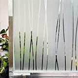 HYSJLS Película mate para ventana de 2 metros de vidrieras decorativas UV pegatina de privacidad esmerilada para ventanas de vidrio de película decorativa de baño (tamaño: 30 x 100 cm)