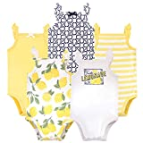 Touched by Nature Unisex Baby Organic Cotton Bodysuits, Lemon Tree, 18-24 Months