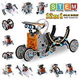 Pakoo Solar Robot Kit 12-in-1 Educational STEM Toys Solar Powered Building Toys DIY Robot Science...