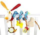 Happy Cherry - Juguetes Colgantes Espiral de Animales para Cuna Cochecito Carrito para bebés niños niñas Arrastrar - Diseño de Perro
