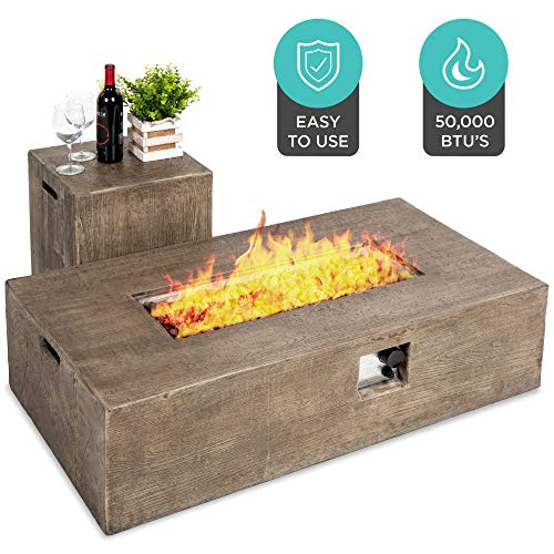 Backyard Rustic Propane Fire Pit Table by Best Choice Products