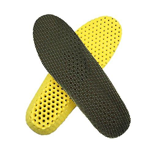 『ハニカム インソール 中敷き 衝撃吸収 抗菌 防臭 底の薄い靴 ウォーキング 立ち仕事 【WL Products】SIS381 (ブラック, Lサイズ)』の1枚目の画像