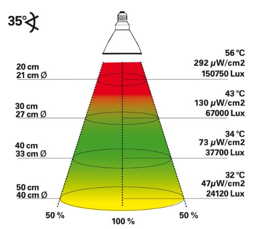 Lucky Reptile BSD-70 Bright Sun UV Desert, 70 W, Metalldampflampe für E27 Fassung mit UVA und UVB Strahlung - 3