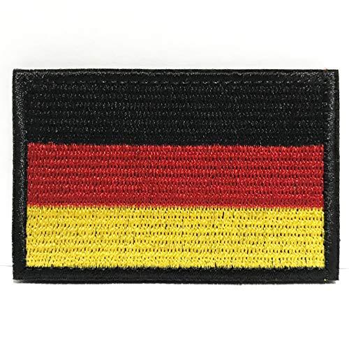 Deutschland Flagge Patch Klett Airsoft Patches Militär Klettbänder Aufkleber Abzeichen für Molle Rucksäcke Velcro Patch (Colisal Deutschland Flagge Patch)