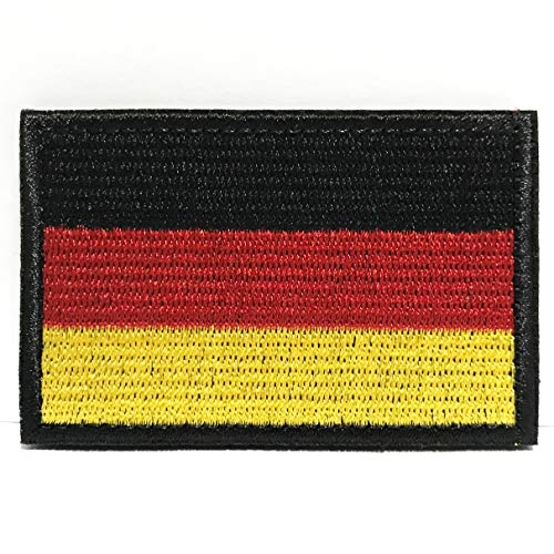 Colisal Deutschland Flagge Patch Klett Airsoft Patches Militär Klettbänder Aufkleber Abzeichen für Molle Rucksäcke Velcro Patch Deutschland Flagge Patch
