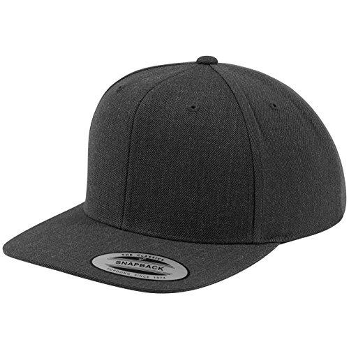 Flexfit Classic Snapback Cap, Mütze Unisex Kappe für Damen und Herren, One Size, Farbe darkgrey/darkgrey