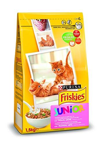 Purina Friskies Pienso para Junior Gato hasta 1 año 6 x 1,5 Kg 🔥
