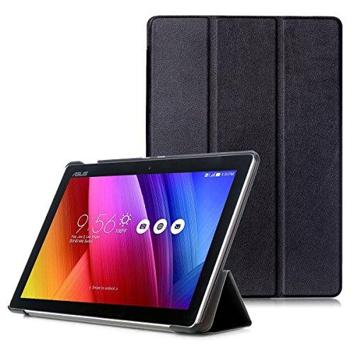 ASUS ZenPad 10 Hülle - Schutzhülle mit Standfunktion & Auto Aufwachen/Schlaf Funktion für ASUS ZenPad 10 Z301M / Z301ML / Z301MF / Z301MFL / Z300M / Z300C 10,1 Zoll Tablet, Schwarz
