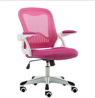HIZLJJ Silla de oficina, juegos de escritorio con reposapiés - Silla de oficina ergonómico del juego de escritorio con silla de trabajo Reposapiés Soporte lumbar de malla silla de la computadora de es