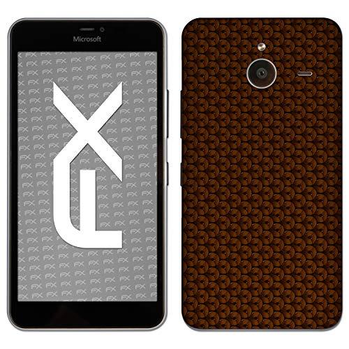 atFolix Skin kompatibel mit Microsoft Lumia 640 XL, Designfolie Sticker (FX-Honeycomb-Brown), Waben-Struktur/Honigwabe
