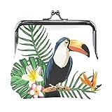 Eslifey Tropical Parrot Monedero Mini Monedero para mujeres y niñas