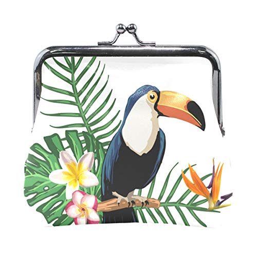 Eslifey Tropical Parrot Monedero Mini Monedero para mujeres