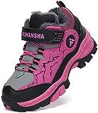 Mishansha Botas de Montaña Impermeable Zapatillas de Senderismo Niño Cálido Zapatillas Trekking Niña Botas de Deporte Morado Gr.36