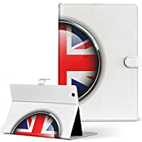 HUAWEI MediaPad M3 Huawei ファーウェイ メディアパッド タブレット 手帳型 タブレットケース タブレットカバー カバー レザー ケース 手帳タイプ フリップ ダイアリー 二つ折り その他 ユニーク イギリス 国旗 マーク m3-000262-tb