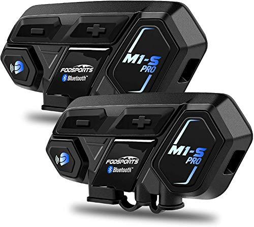 Fodsports M1-S Pro Intercomunicador Casco Moto, 8 Riders Comunicador Bluetooth, Gama Comunicación...