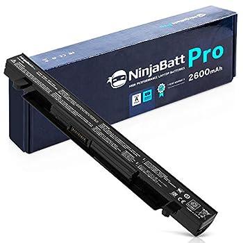 NinjaBatt Pro Battery for Asus A41-X550A A41-X550 R510C X550C X550L X550J R510L X550CA X552E X550V K550L F550V X550A P550C X550EA X550D R510 X550VX F550C - Samsung Cells [4 Cells/2600mAh/38Wh]