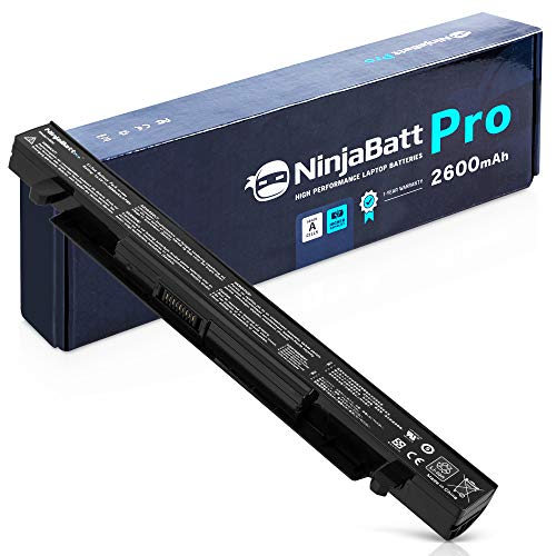 NinjaBatt Pro Batterie pour ASUS A41-X550A A41-X550 F550 F450 X550 R510C A550 K550 P550 X550C X550DP X450 A550L X550J R510 - Samsung Cellules [4 Cellules/2600mAh/37Wh]