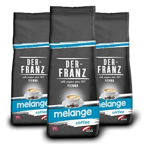 Der-Franz Melange-Kaffee UTZ, ganze Bohne, 3x500g