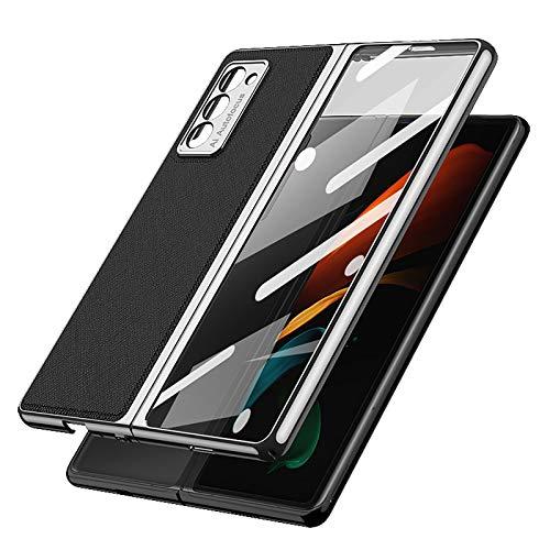 XJZ Kompatibel mit Samsung Galaxy Z Fold 2-5G Smartphone Hülle(2020)+3D Panzerglas/Hülle Ultra Dünn 3 in 1 Schutzhülle 360 Grad Stoßfest Hülle Cover Handyhülle für Samsung Galaxy Z Fold 2-1