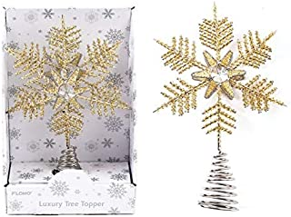 Holiday Essentials Beaded Snowflake Christmas Tree Topper