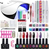 Gelongle 10 Colors Gel Polish Starter Kit 36W LED UV Nail Dryer Curing - Best Reviews Guide