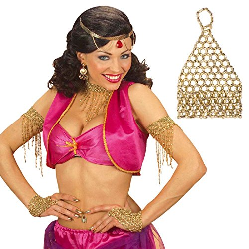 Bracelet Diamants Faux Charleston soirée de thème années 20 Danse du Ventre doré Bijou Fantaisie Strass Danseuse Accessoire déguisement