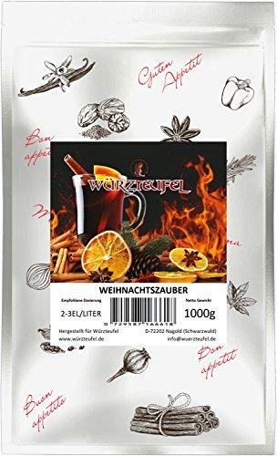 Glühwein - Gewürz Weihnachtszauber, Punsch – Gewürz. Kräftig im Geschmack: speziell für alkoholhaltige Heißgetränke. Beutel 1000g. (1KG)
