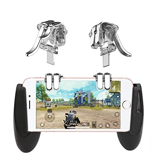 BEESCLOVER 4-Click Metal Controller Mobile Portatile Gamepad L1 R1 Trigger Mira L1R1 Pulsante Gioco Telefono Trasparente