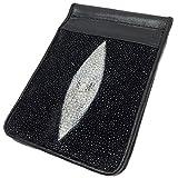 マネークリップ 二つ折り 財布 スティングレイ ブラック メンズ レディース シンプル スターマーク大