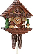 German Cuckoo Clock 8-day-movement Chalet-Style 12.00 inch - Authentic black forest cuckoo clock by Hekas